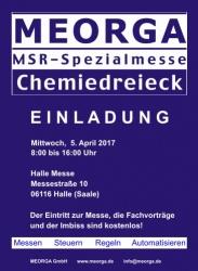 MEORGA MSR-Spezialmesse Chemiedreieck 2017 in Halle (Saale)