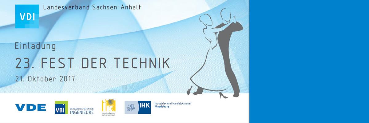 Einladung zum 23. Fest der Technik am 21.10.2017 in Magdeburg