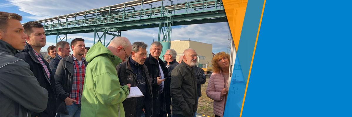Rege Teilnahme an der Exkursion zum H2 – Netz im Chemiepark Bitterfeld-Wolfen mit vielen interessanten Informationen, Führung und Besichtigung